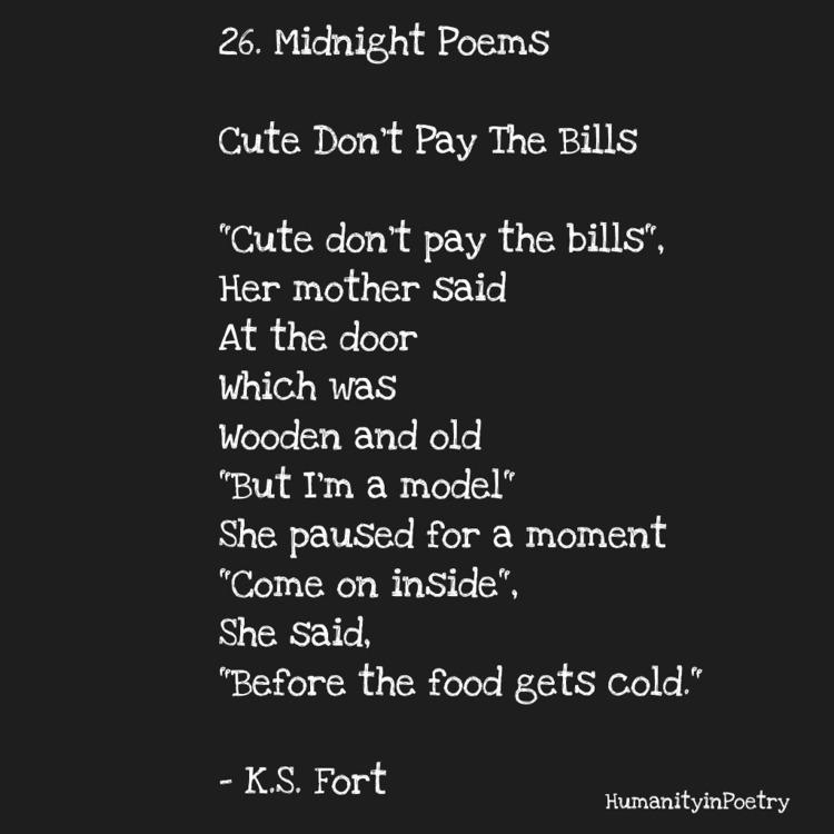 Link Poem, Cute Pay Bills - poetry - humanityinpoetry | ello