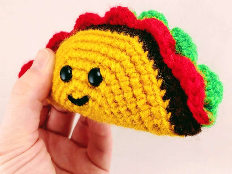 Happy hugged Tiny Tasty Taco to - miniaturemonkeycreations | ello