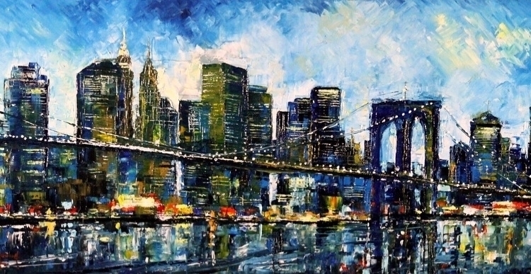 Blu NY Bruno Oil Canvas 16X40 2 - bitfactory | ello