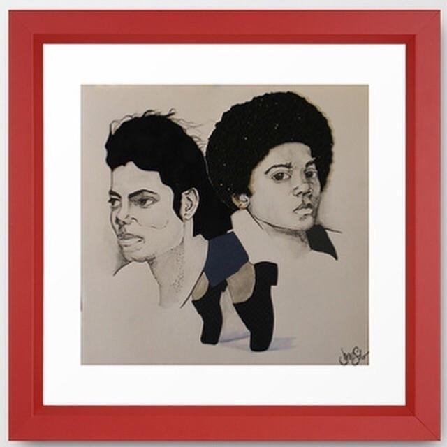 Michael Jackson - illustration, mixedmedia - jennsolo | ello