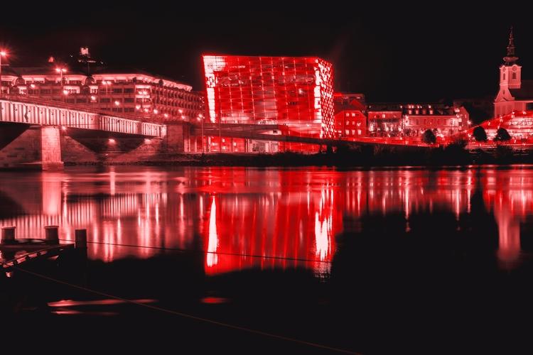 Bloody Town.  - linz, austria, river - dalwenphotography | ello