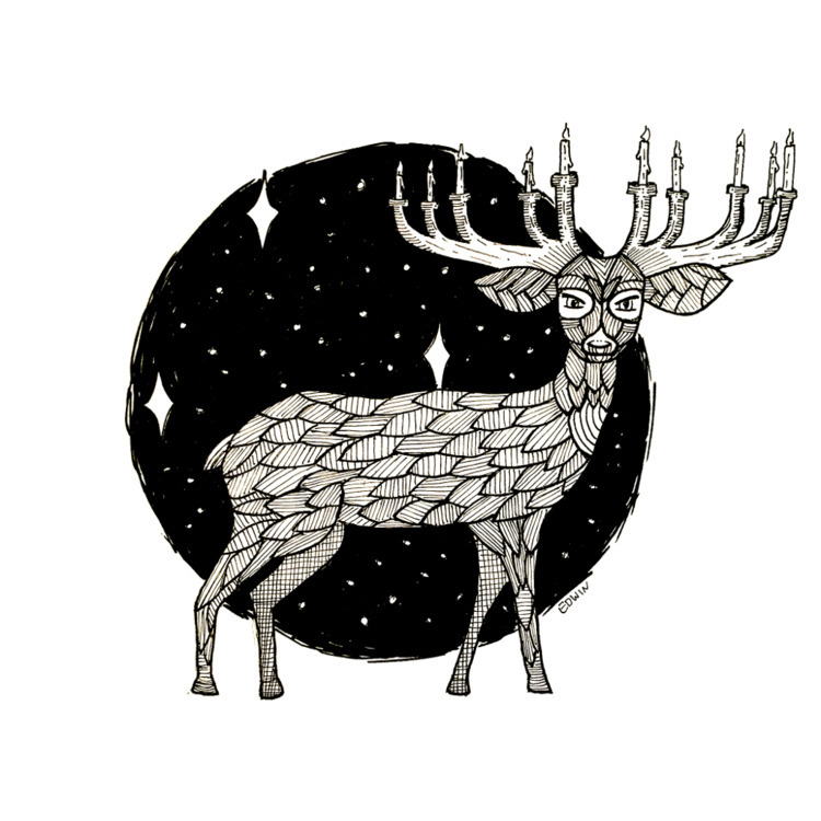 Inktober - graceful deer no2 |  - edwln | ello