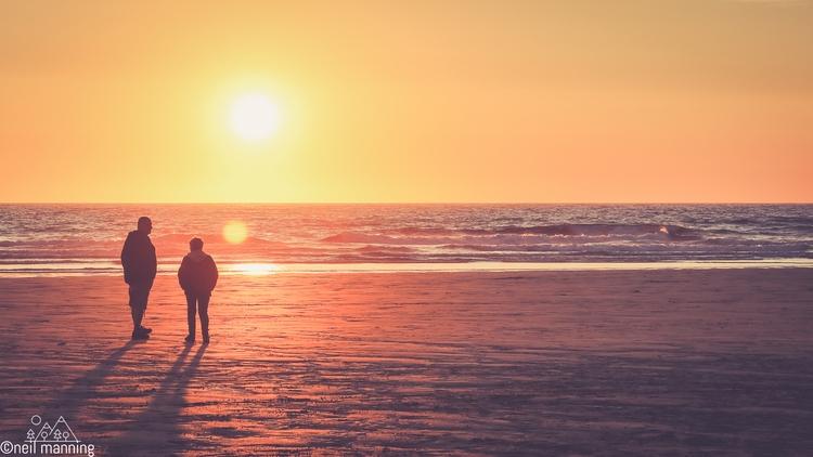 day - beach, sunset, watching, cornwall - the-wooks | ello