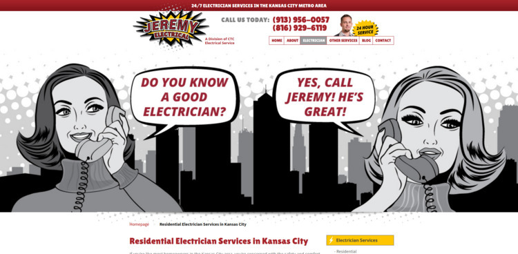 Check homepage Jeremy Electrica - jeremyelectrical | ello