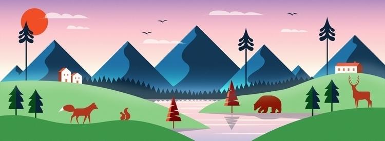 Nordic landscape / 2017 - illustration - mathildaholmqvist | ello