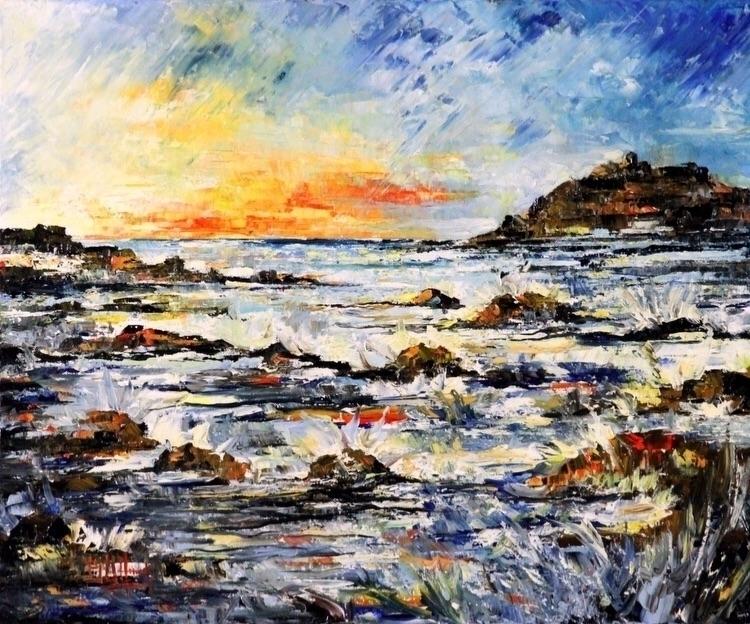 Mareggiata Bruno Oil Canvas 20X - bitfactory | ello