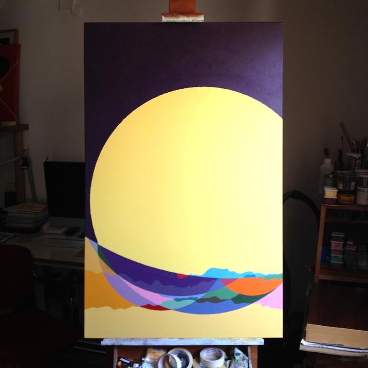 nebra879_acrylic canvas_116x73c - rafamateo | ello