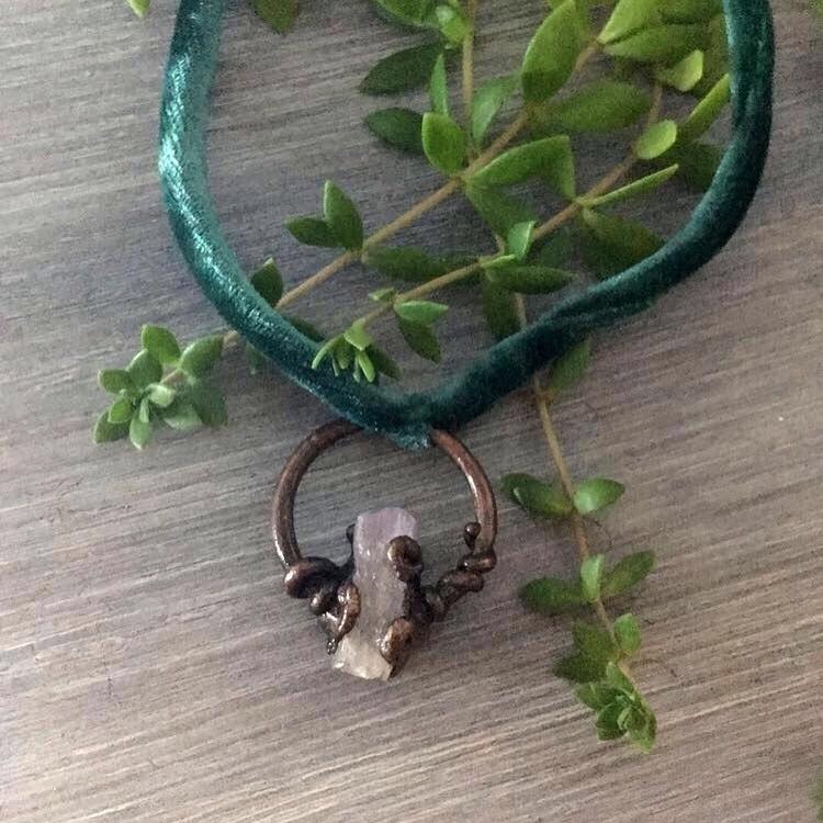 Copper + Velvet Amethyst listed - verdigrisdesign | ello