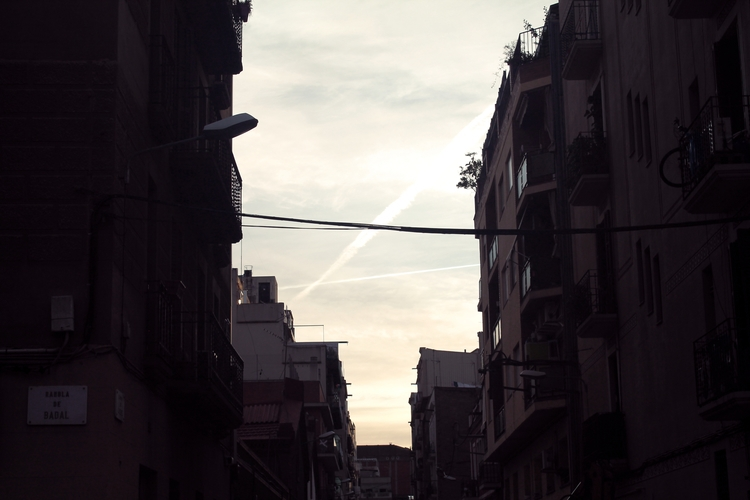 early morning Badal, Barcelona - cogginsketchbook | ello