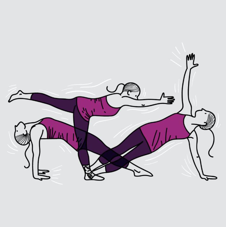 yoga, illustration, vector, casadaesquina - joanacorker   ello