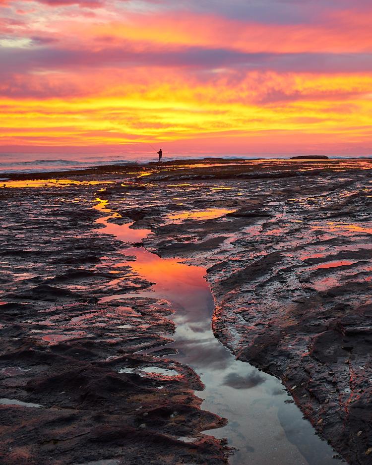 Fiery sunrise Mona Vale - ellophotography - solarfractal | ello