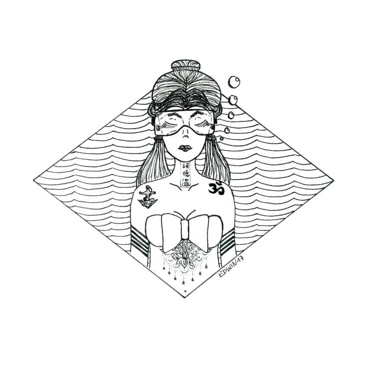 Inktober - deep | 20.10.2017 fi - edwln | ello