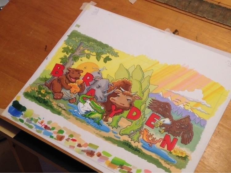 marker illustration grandson - kennethryskamp | ello