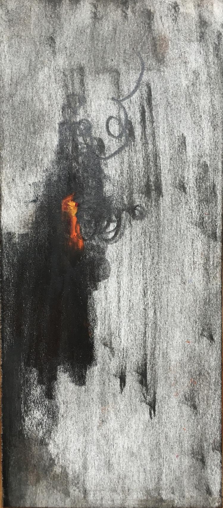 Small Fire - oilpastel - jasonjsnell | ello