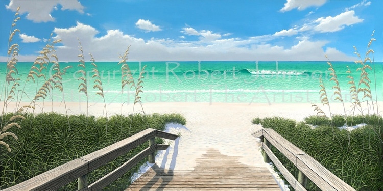 Willow Ave Beach Access - Board - paintingsbybob   ello