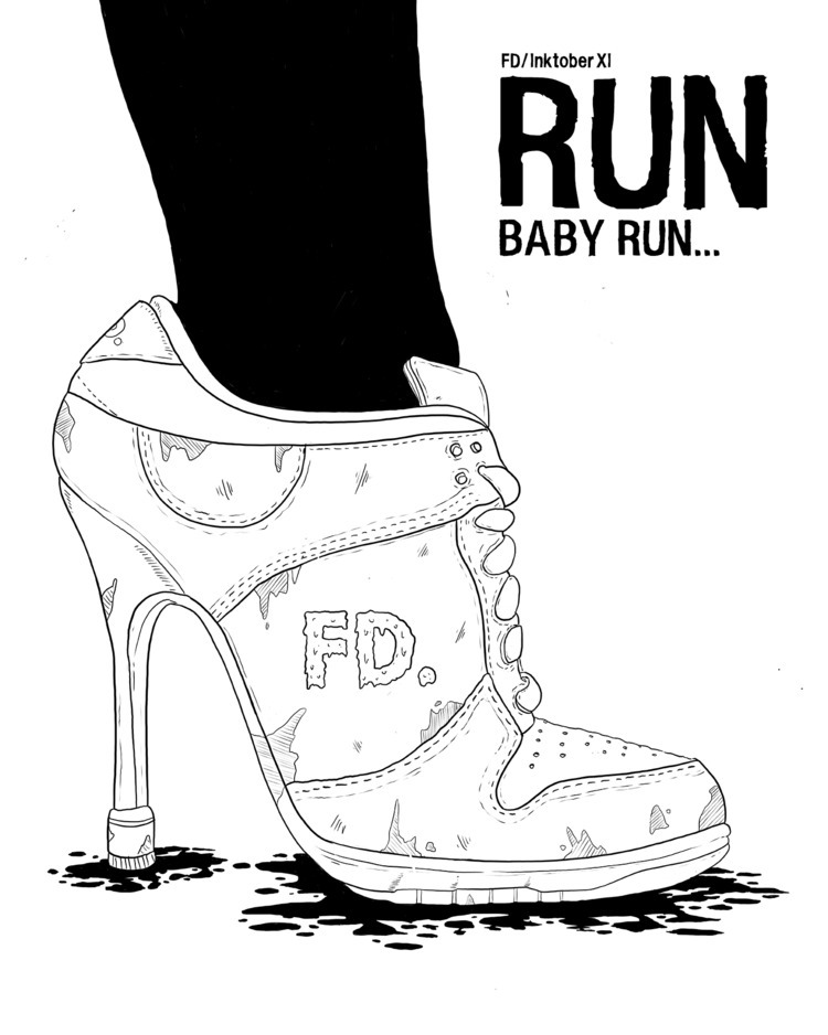 «RUN - inktober, design, graphicdesign - flatdrop | ello
