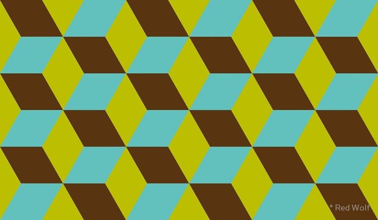 Geometric Pattern: 3D Cube: Blu - red_wolf | ello