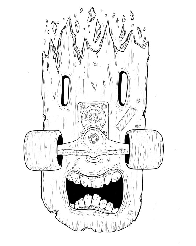 «Shattered Teeming - inktober, illustration - flatdrop | ello