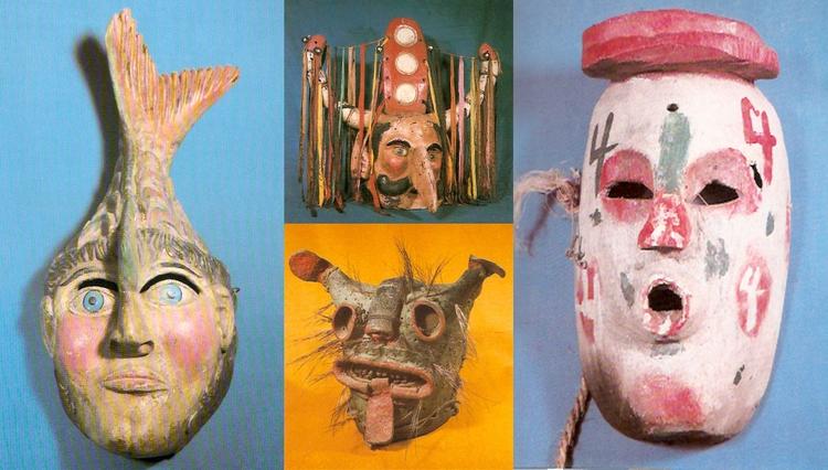 Donald Mexican Masks, 1982 - photography - modernism_is_crap | ello