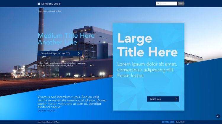 Generic landing page web design - whiteb34 | ello