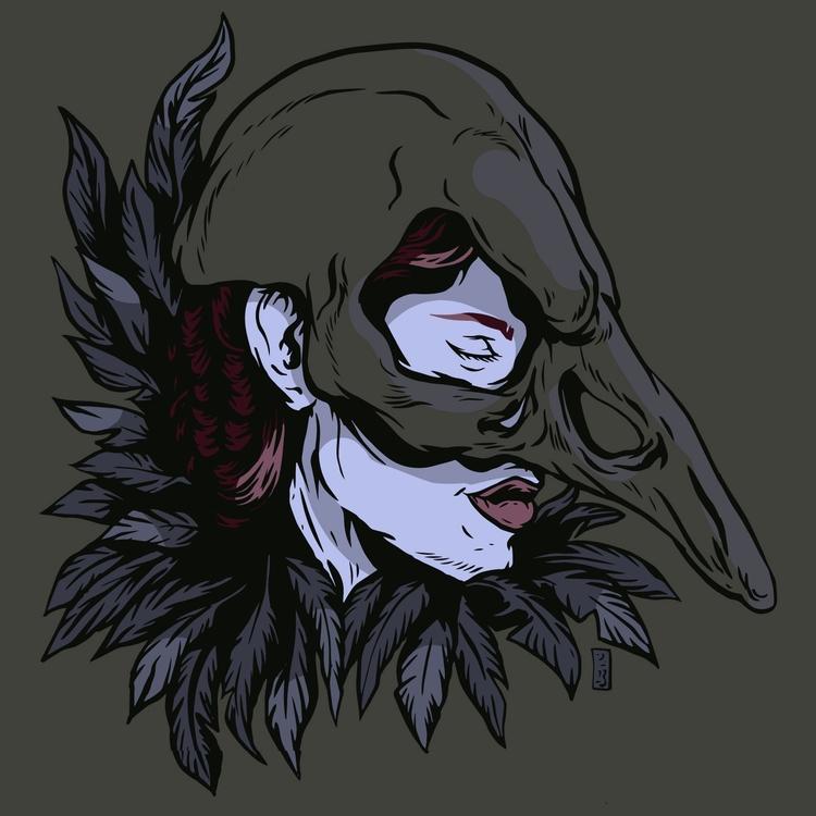 Crow - illustration - thomcat23 | ello