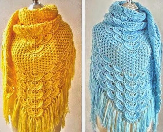 loved model crochet shawl, simp - brunacrochet | ello