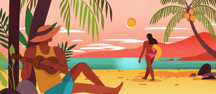 Beach illustration MCWD 2017 Ca - geraldinesy | ello