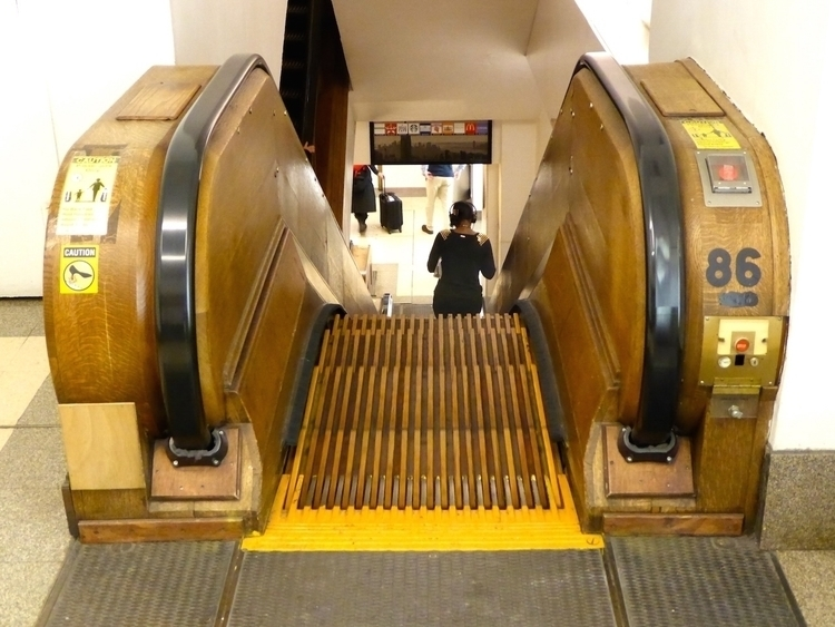 Wooden escalator Herald Square - thomgollas | ello