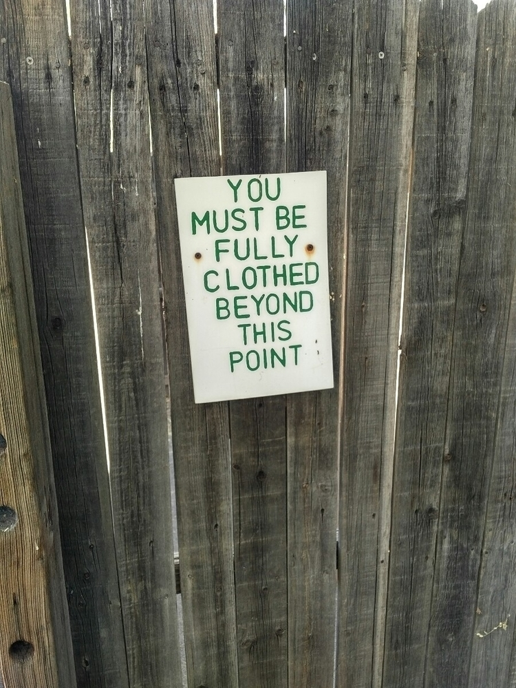 saddest sign clothing-optional  - tedski | ello