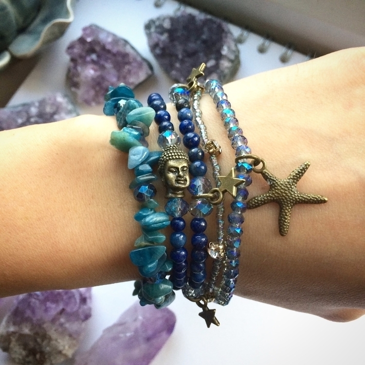 Beautiful blue bracelets apatit - amilliadesigns | ello