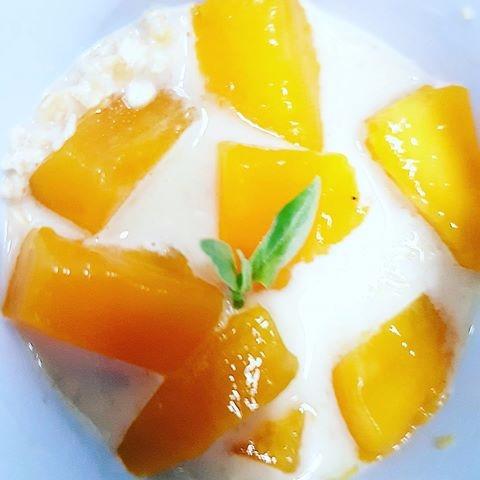 Oatmeal, Mango, Milk, MuscovadoSugar - vicsimon | ello