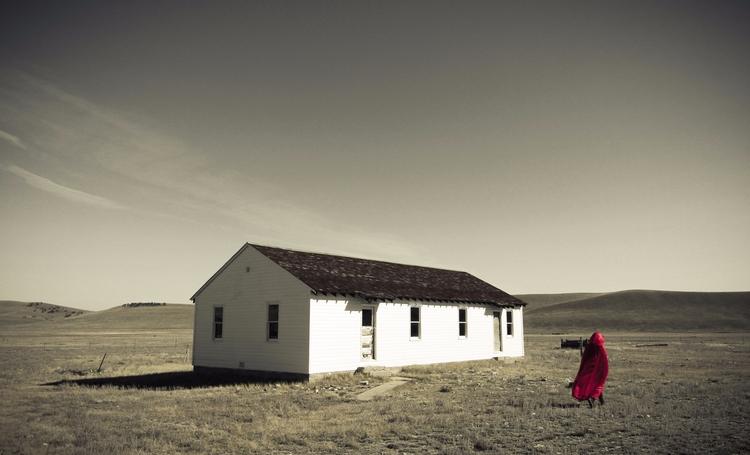 Red human house night swimming  - jayhalsey | ello