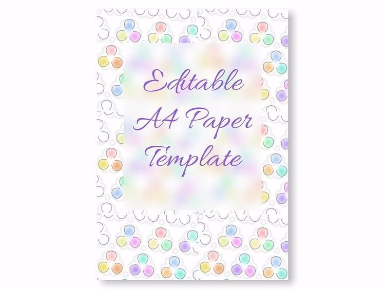 A4 Template ( Editable Gravit D - artlikesyou | ello