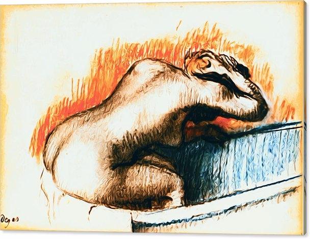 Edgar Degas - Woman Washing Bat - pixbreak | ello