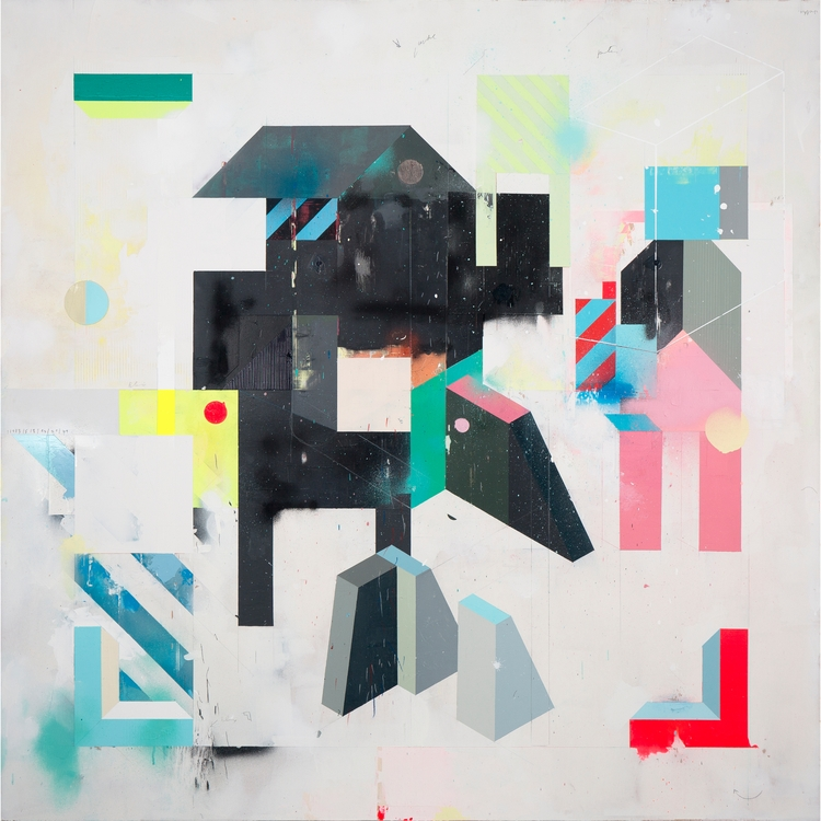 'Field' 146x146cm Acrylic, Ink - aruizvillar | ello