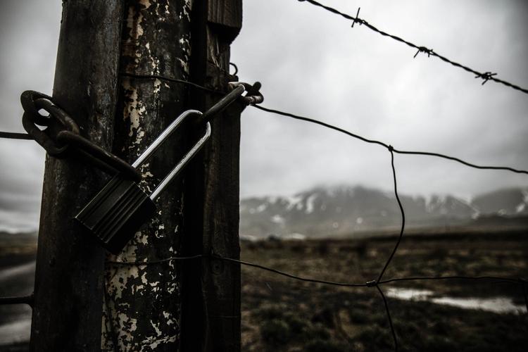 Loneliness - iceland, fence, photographer - joanvillalon | ello