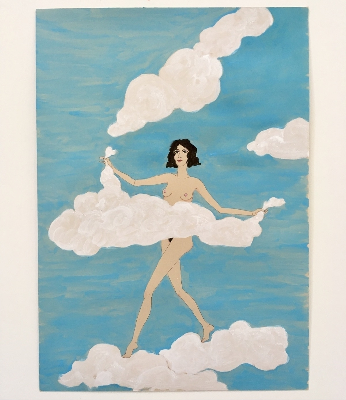 putting clouds belong - kunst, art - lorettamae   ello