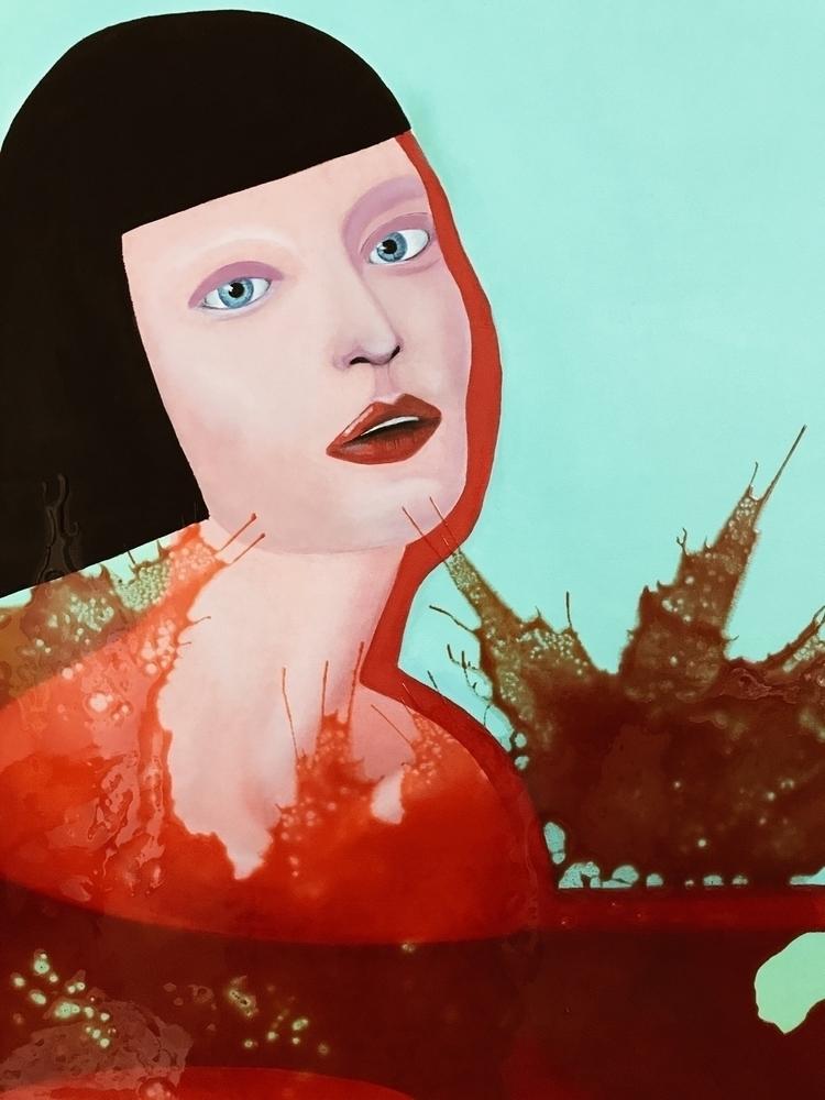 Eva oil canvas - fragment, oilpainting - liquasar | ello