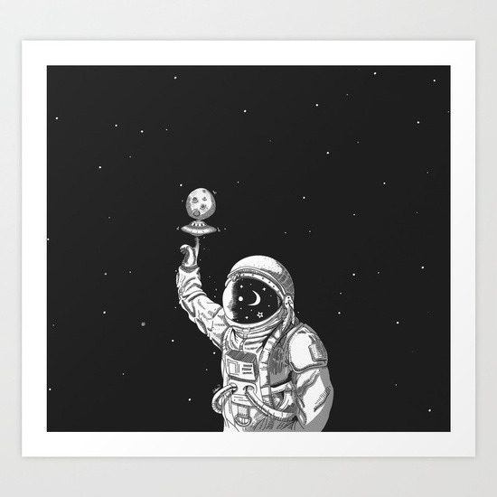 Space Collector Art Print losta - lostanaw | ello