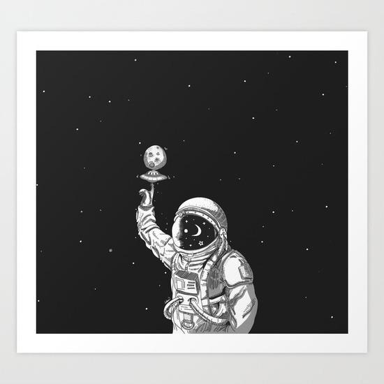 Space Collector Art Print losta - lostanaw   ello