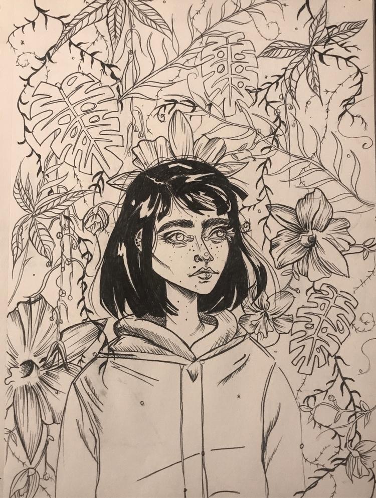 August/17 - girl, drawing, elloart - nellie380 | ello