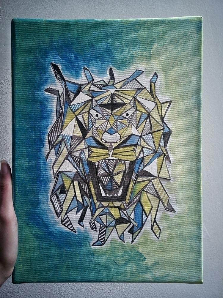 canvas cut rugged - tigher, cutout - pexenoit | ello