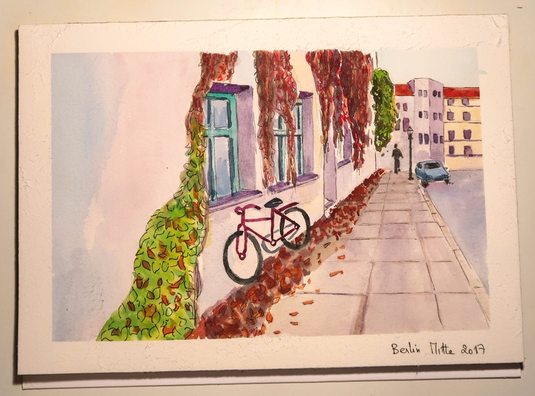 Fall Berlin - illustration, aquarelle - meriamk | ello