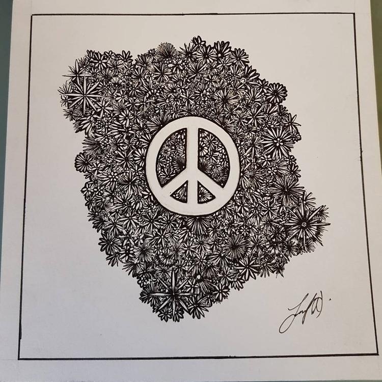 flowers, art, peace - jane_weaver | ello