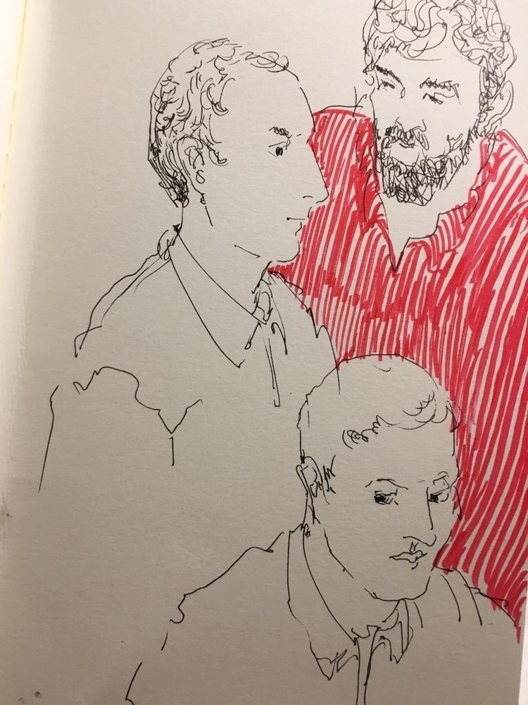 Red - people, figures, red, ink - yuliavirko | ello
