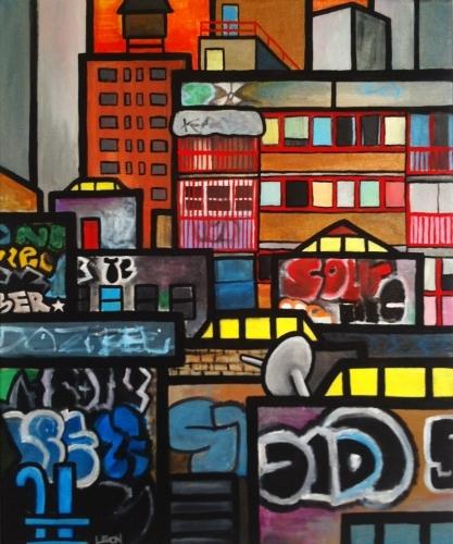 Chinatown 2013 Acrylic Canvas 3 - leonchase | ello