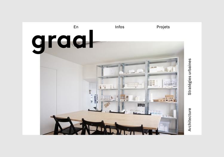 Visual identity website Graal a - northeastco | ello