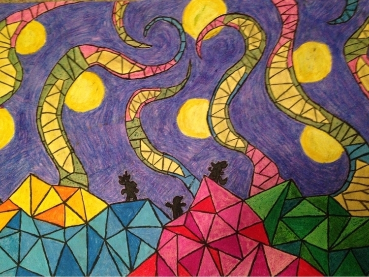 oil pastel. inspiration piece L - blakequack3 | ello