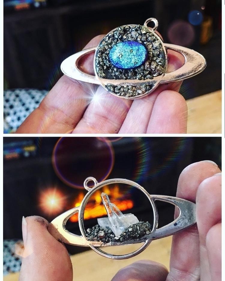 Crystal Saturn necklaces - planets - mermaidtearshawaii | ello