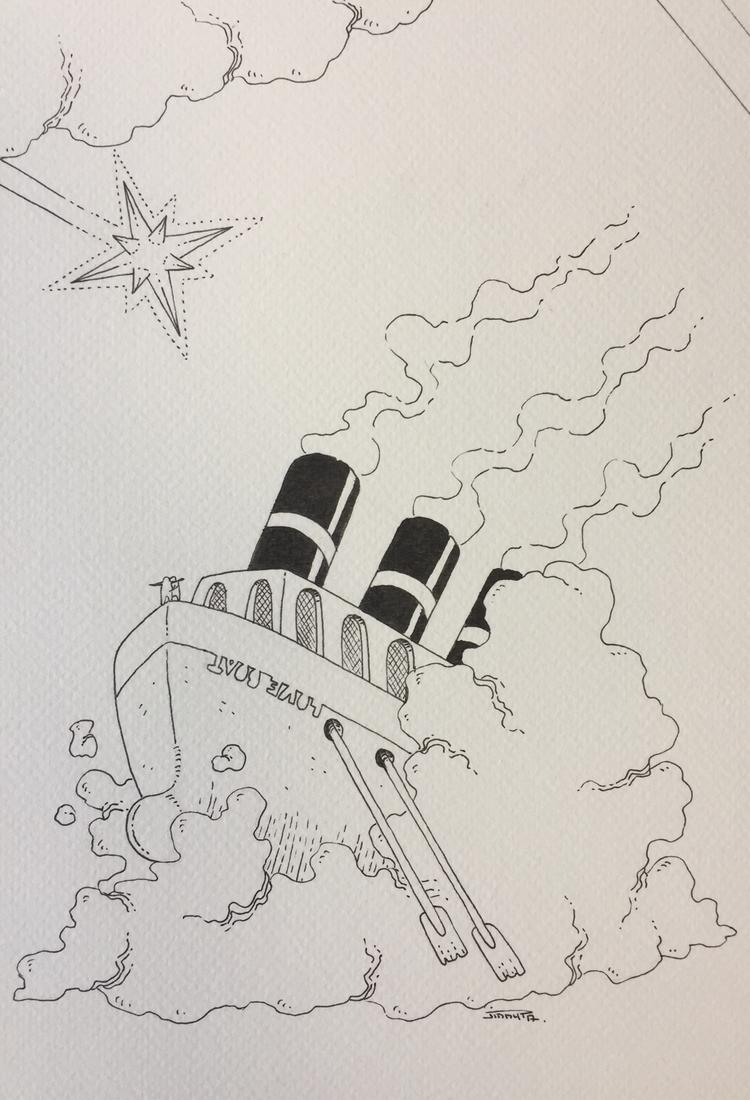 25 navire / ship - inktober, inktober2017 - jimmy-draws | ello